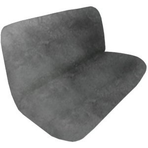 Silver Synthetic Sheep Skin Bench Rear Seat Cover