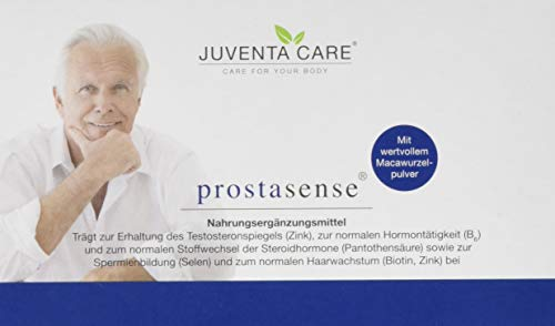 Energie Nahrungsergänzungsmittel 60 Kapseln (Juventa Care prostasense - Nahrungsergänzungsmittel - trägt zur Erhaltung des Testosteronspiegels (Zink) und normalen Hormontätigkeit (B6) bei, 60 Kapseln)