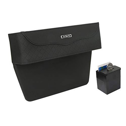 Multifunktionale Aufbewahrungsbox Für Auto | Premium PU Leder Autositz Seitentaschen Organizer Mit Abnehmbarem Münzsammler | Utensilientasche Für Zusätzliche Lagerung z.B. Handy, Geldbörse -