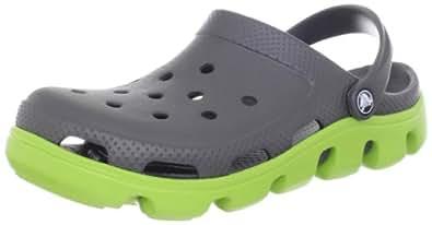 Crocs Duet Sport, Unisex-Adults' Clogs, Graphite/Volt Green, M5/W6 UK (M6/W8 US) (38-39 EU)
