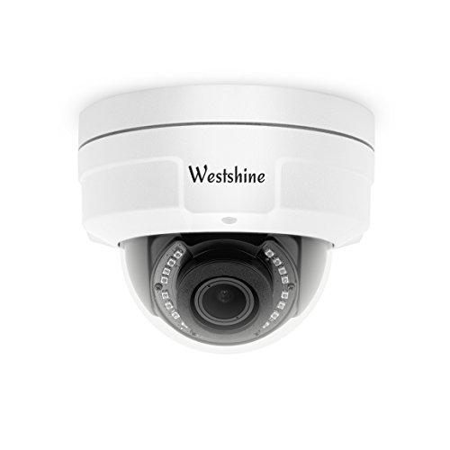 Westshine telecamera dome di sicurezza 1080p lente varifocal 2.8-12mm, telecamera antivandalismo 4-in-1 ahd / tvi / cvi / cvbs con menu osd visore notturno telecamere da interno per interni