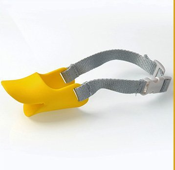W4G_Store Maulkorb, Silikon, süße Enten-Mundmaske, Maulkorb, Biss-Stopp, kleine Hunde, Anti-Biss-Masken für Hunde, Haustier-Zubehör, 1 Stück
