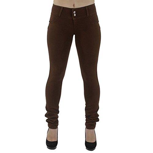 BAINA Damen Hose Skinny Röhre Push up Hose Stretch Slimfit Jeggings Leggings Stretch Röhrenjeans Jeans