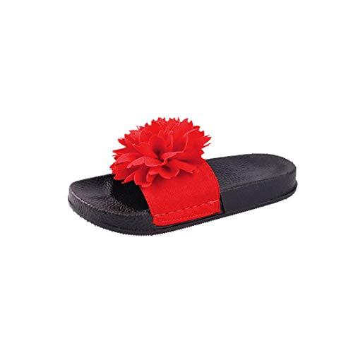 Ciabatte da donna, honestyi sandali tacco piatto con tacco e punta arrotondata per donna pantofole donna scarpe da spiaggia donne pantofola infradito casual morbide ciabatta