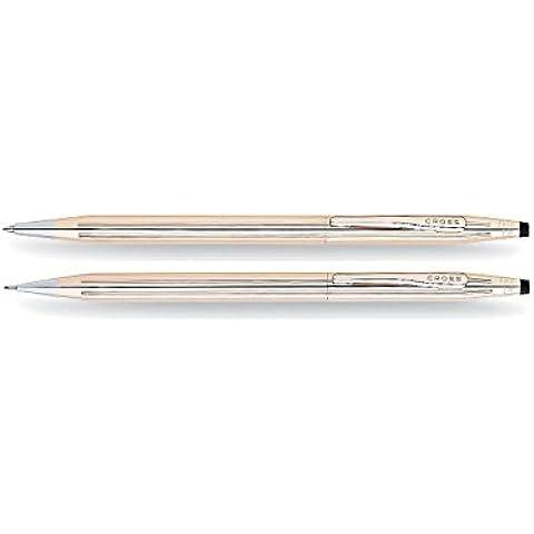 CROSS Classic Century 14 Karat Gold Filled / penna d'oro laminato e l'insieme della matita - Gold Filled Stilografica
