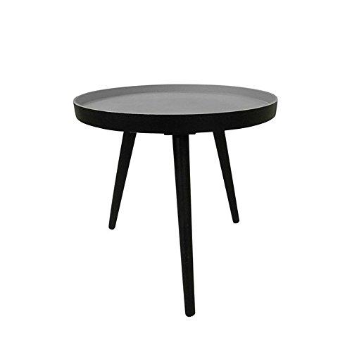 Table basse ronde trépied False Couleur Noir