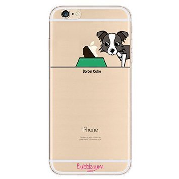 BubbleGum® for iPhone Models DOG Case Collection - Tpu Protective Soft Gel Artistic Case Cover (iPhone 6+ 6splus, Border Collie)