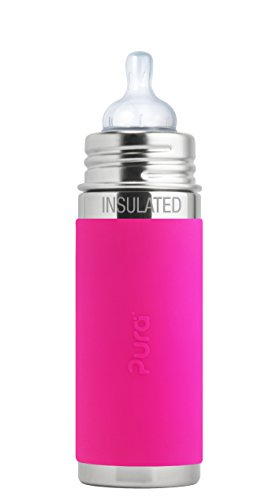 Pura kiki ISOLIER Babyflasche Edelstahl pink Pura Stainless 200ml