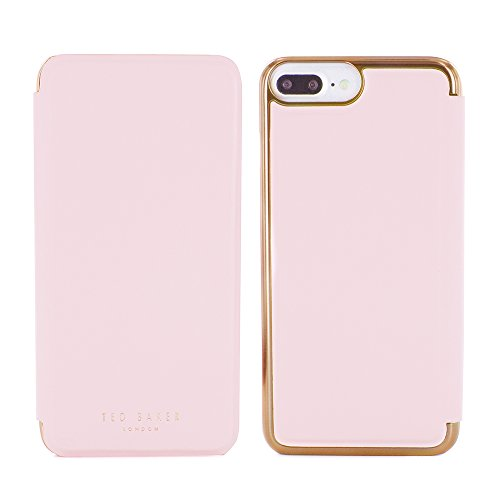 iPhone 7 Plus Case, Official Ted Baker Branded iPhone 7 Plus Case with Rose Gold Finish, Professional Women's Case For iPhone 7 Plus with Built in Make-up Mirror- KADIA-Nude / Rose Gold nude/rose gold