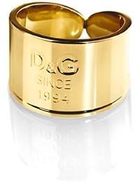 Dolce & Gabbana DJ102556 - I D&G - Anillo de mujer de acero inoxidable dorado (talla: 16)