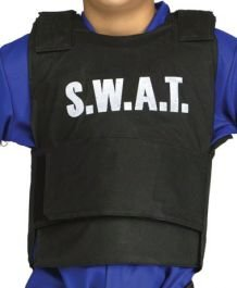 Kinder Fancy Dress Party Kostüm SWAT Team Weste