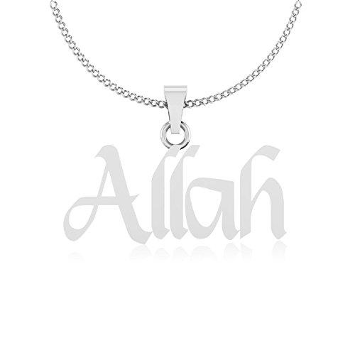 IskiUski Eid Day Special Al Hakam Allah Pendant in 925 Sterling Silver...