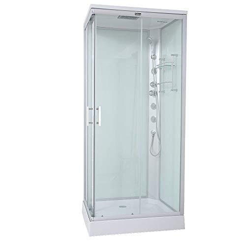 Home Deluxe - Duschkabine - Venus M - Maße: 90 x 90 x 227 cm - inkl. komplettem Zubehör