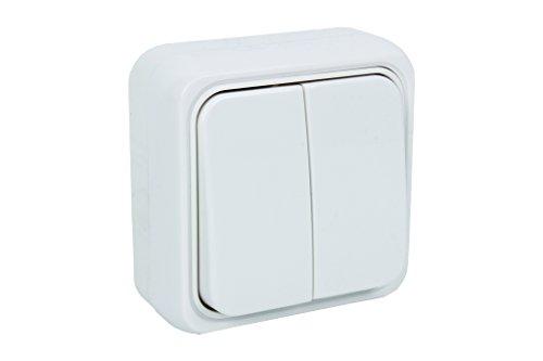 Cofan 51001217 Doble Interruptor Superficie, Blanco