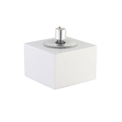 greemotion Öllampe in Betonoptik für Draußen-Garten Öl Lampe Outdoor Petroleumlampe mit Docht & Lösch Glocke-Tisch Leuchte Modern & Flach, Stein, Weiß, klein