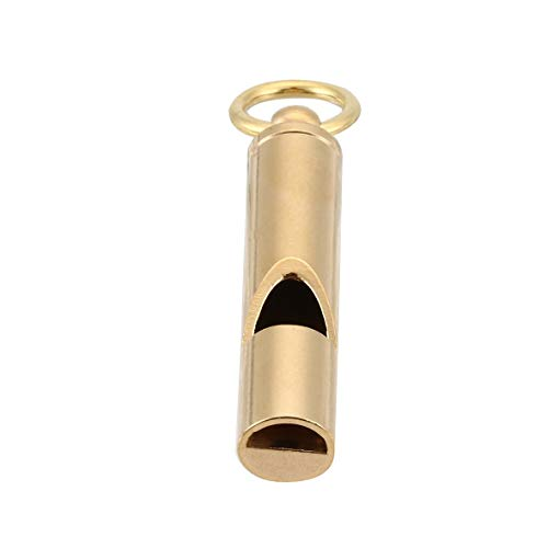Monllack Vintage Messing Pfeife Outdoor Retro Survival Notfall SOS-Pfeife Schlüsselanhänger Anhänger Outdoor EDC Gadget Werkzeuge