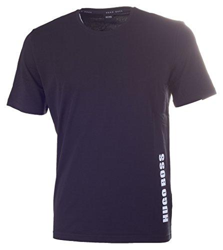 BOSS Hugo Boss Herren T-Shirt RN aus Stretch-Baumwolle Schwarz (Black 001)