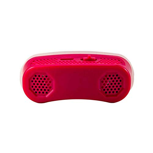 JesseBro76 Micro CPAP Anti Schnarchen Elektronisches Gerät Schlafapnoe Stop Schnarchhilfe Stopper rot Rot-stopper