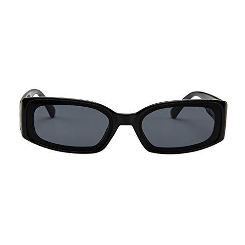 fazry Herren Damen Einfach Mode Jahrgang Quadrat Gespiegelt Polarisiert Brille Brillen Sonnenbrille(Schwarz)