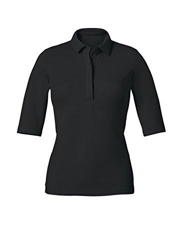 Maratus Damen Bio halbarm Poloshirt M/schwarz