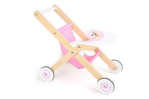 Small foot- passeggino per bambole in legno stabile, 10741