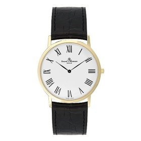 Baume & Mercier Classima 18kt Solid Gold Mens Strap Watch White Dial MOA08070