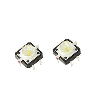 NEU! LED Druckknopf Tactile Button Switch Taster weiß für Arduino Raspberry Pi
