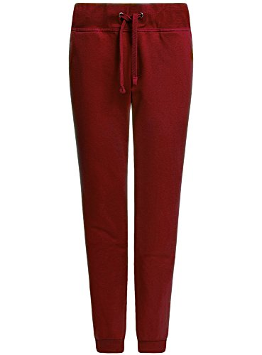 oodji Ultra Damen Jersey-Hose im Sport-Stil Rot (4900N)