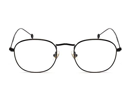 Fashion Glasses-brillenfassungen Flacher Spiegel Strahlenschutz Brille, schwarzer Rahmen