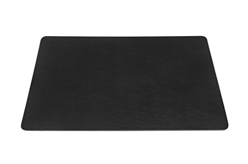 Durable Schreibtischunterlage mit abgerundeten Ecken 65 x 40 cm - Made in Italy (Schwarz)
