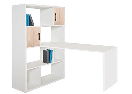 Phönix 806259WE Einhänge-Schreibtisch, Holz, weiß, 70 x 120 x 66 cm