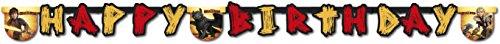 r * DRAGONS - DRACHENZÄHMEN * für Kindergeburtstag und Motto-Party // Girlande Wimpelkette Kinder ()