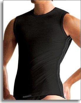 Diesel Rundhals Shirt New-Edidis ärmellos schwarz L
