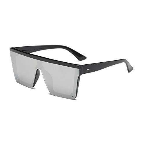 KCJKXC Übergroße Flat Top Sonnenbrillen Frauen Einzigartige Herren Sonnenbrillen Shield Sonnenbrillen Große Square Shades
