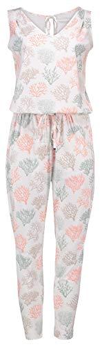 Raffaello Rossi Gira Jumpy Jumpsuit Coral Print High Tech Jersey, Farbe:weiß, Größe:38