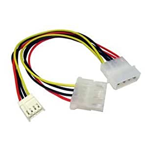 PC Arena Internal Molex LP4 to Floppy Drive FDD Power Connector Cable