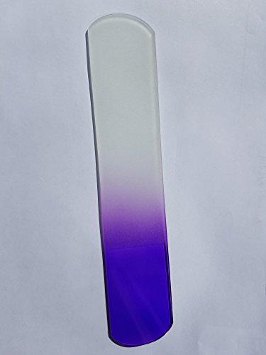 Hand Made Glass Foot File & Pedicure Rasp, Genuine Czech Tempered Glass, Lifetime Guarantee | Hard Skin Remover, Corn, Calluses & Dead, Coarse Skin Remover PURPLE By Kleeneze