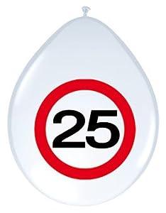 Folat 8Globos Número 25Cumpleaños señal de tráfico