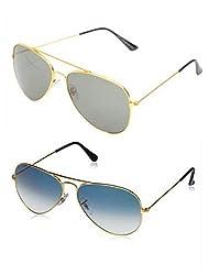 MWAYS Combo Aviator Unisex Sunglasses
