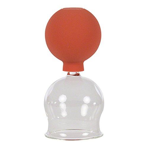 Coppetta in vetro con ventosa per coppettazione per massaggio professionale, in 5diverse taglie (diametro da 2a 6cm), qualità medica, coppettazione senza l'utilizzo di fiamme, per massaggio anti-cellulite