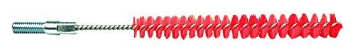 Maya Professional Tools 10771-3 Rohrbürste mit Gewinde für Stiel, FBK/Lebensmittelhygiene, 12 mm x 100 mm x 160 mm, Rot