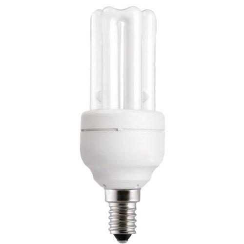 43345 Energiesparlampe 9W E14 hellweiß (840) Energy Saving Röhrenform