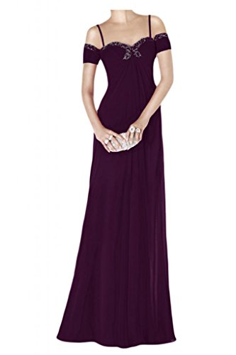 TOSKANA BRAUT Chic Empire Abendkleider Lang Chiffon Brautjungfern Party Ball Promkleider Abendmode Traube