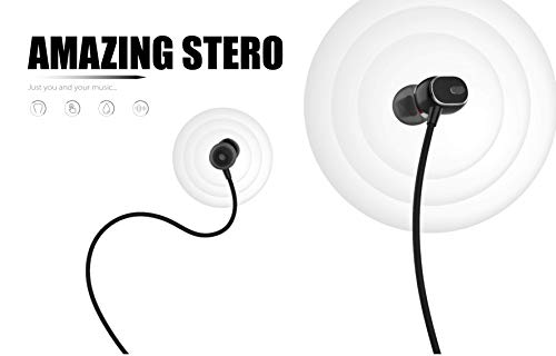 Nwark/Joie® USB Type C Earphones [Upgraded Version] Wired in-Ear Earbuds w/Mic, Noise Cancelling Sports Earphones Compatible with One Plus 7pro/7/6T (Black) Image 4