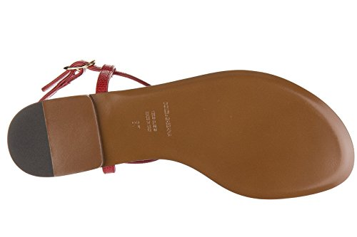 Dolce&Gabbana tongs femme en cuir iguana stromboli rouge Rouge