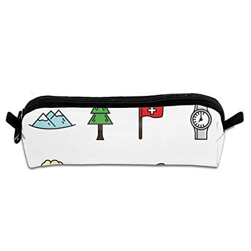 Switzerland Icon Pack Pen Pencil Stationery Bag Makeup Case Travel Cosmetic Brush Accessories