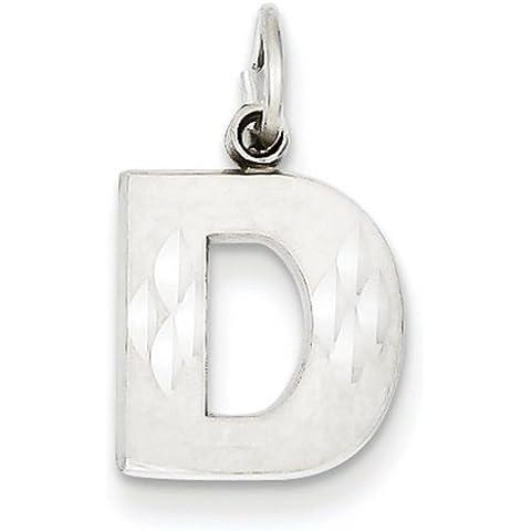 Icecarats Designer Di Gioielli 14K Oro Satinato Solido Bianco Diamante Taglio Iniziale Fascino D