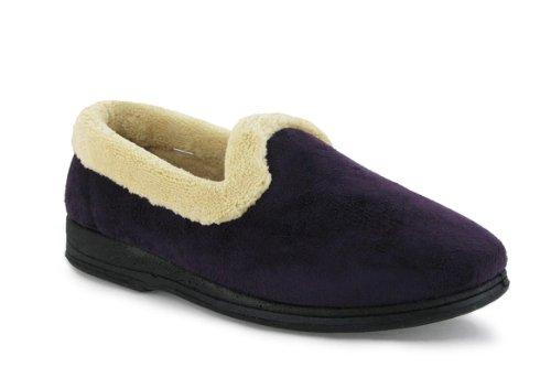 Mirak Vivian Femmes Dames Classique Chaussons Pantoufles Textile Nouveau purple