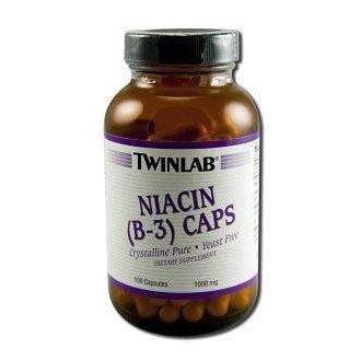 Twinlab, Niacine (B-3) Caps, 1000 mg, 100 Capsules