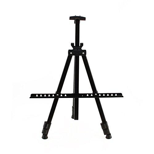 Caballete de Pintura de Hierro Base de Pintura Telescópica Portátil para Artista, Altura: 52-160 cm